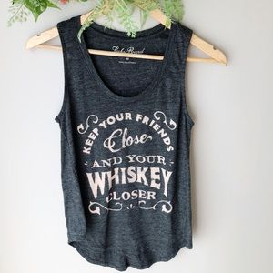 Lucky Brand Keep Your Whiskey Close Tank